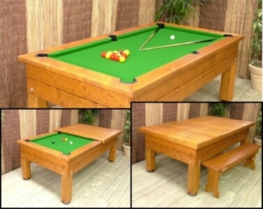 Evergreen Outdoor Pool Table