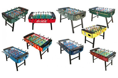 Customised foosball tables