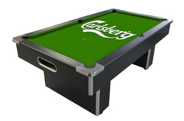 Drinks branded pool table