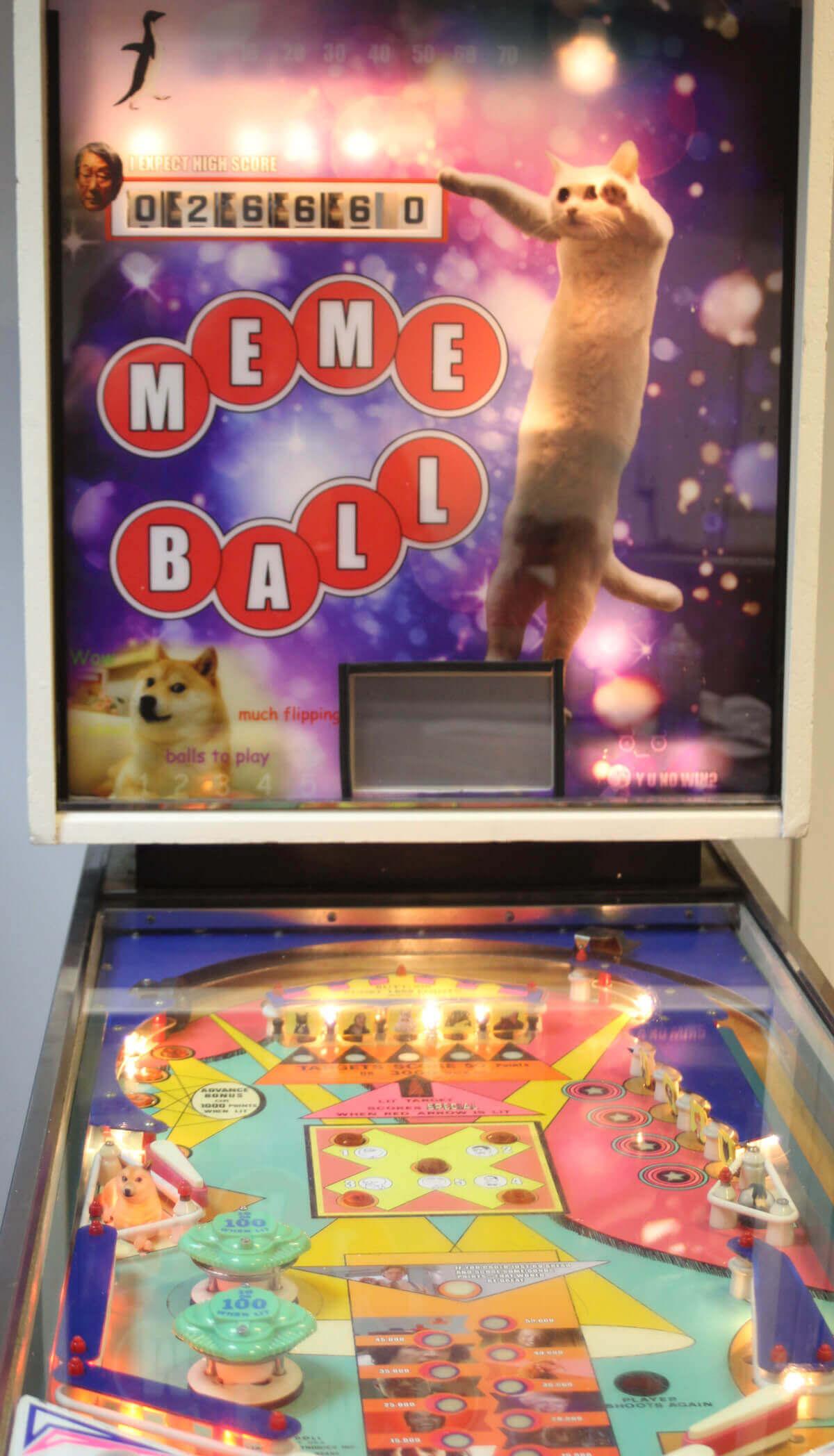 Star Wars Pinball Machine >> We Made an Internet Meme Themed Pinball - Liberty Games Blog