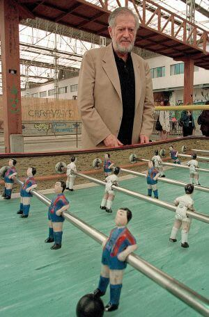 Alejandro Finisterre and foosball table