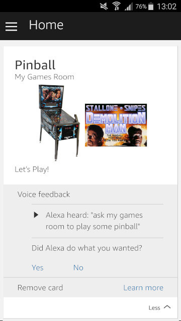 Alexa card screenshot