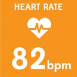 icon showing the heart rate measured during a game