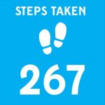 icon showing the number of steps taken during a game