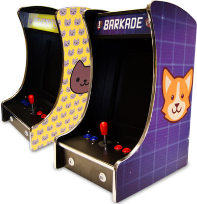 the barkade and mewsmnts arcade machines for pets