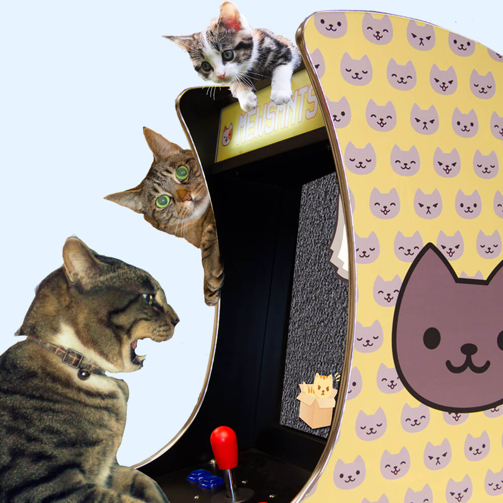 the mewsmnts rcade arcade machine for gaming cats