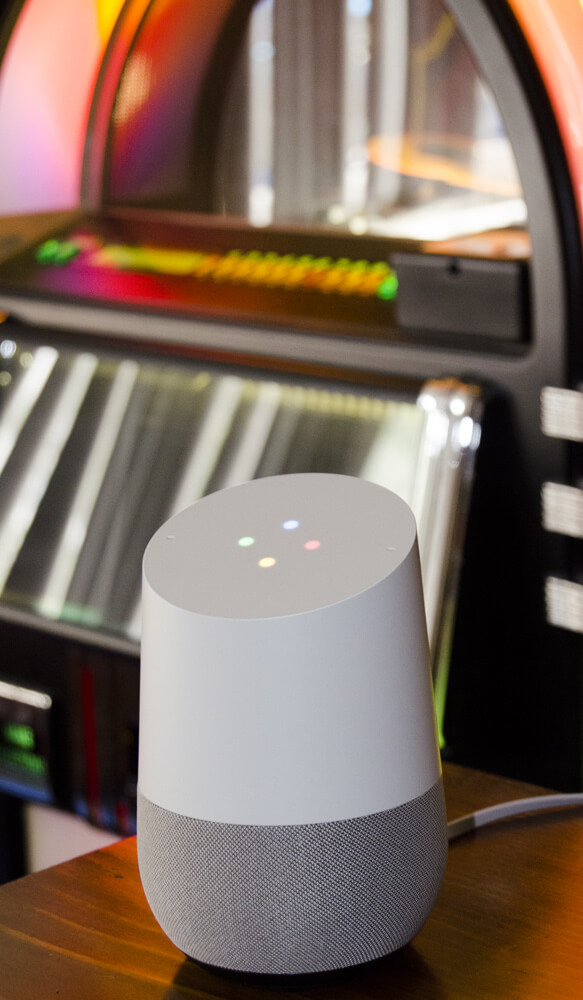 The Google Home with jukebox