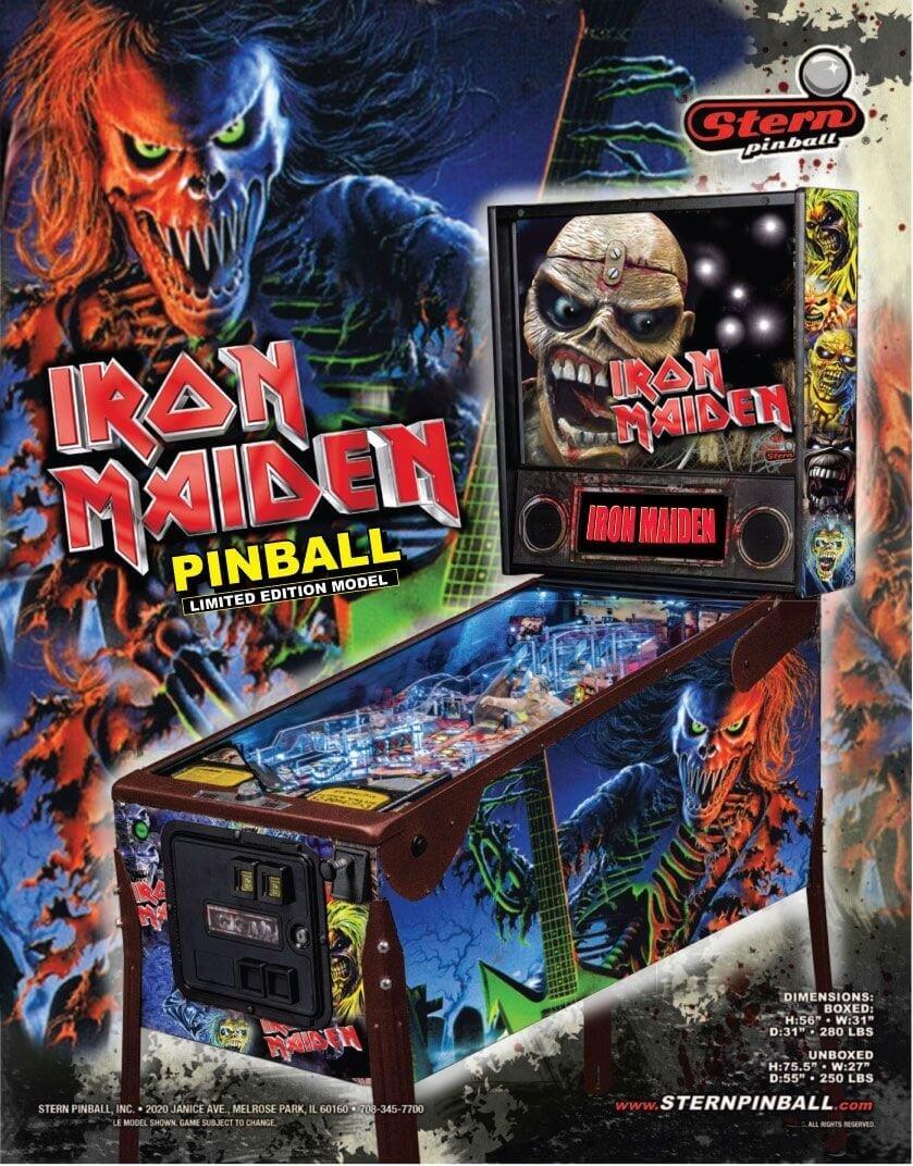 Iron Maiden pinball art by Maclean