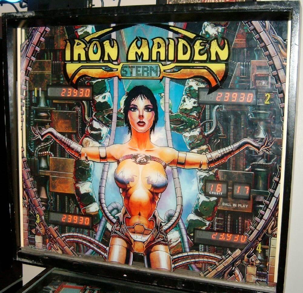 1981 Iron Maiden pinball backglass