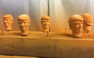 3D printed Trump heads for nuclear foosball