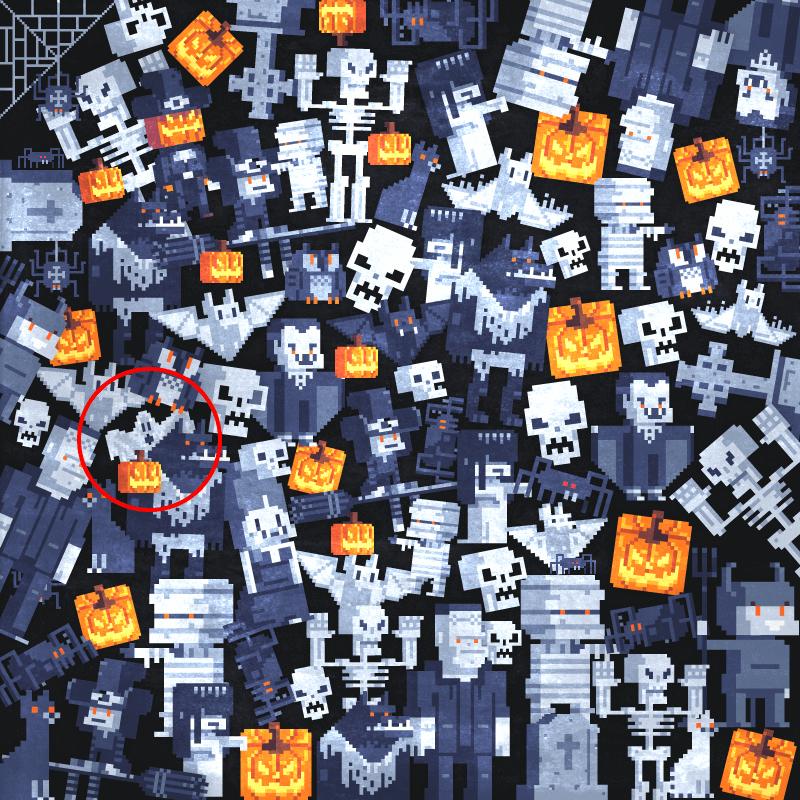 Arcade Halloween Brainteaser Answer