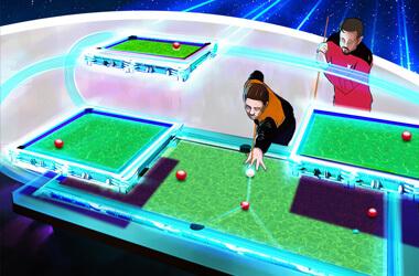The Star Trek Tri-D pool table