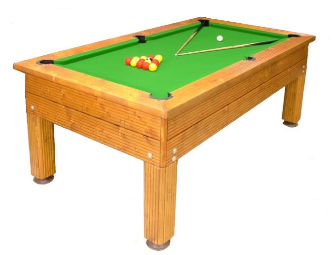 The Evergreen outdoor pool table.