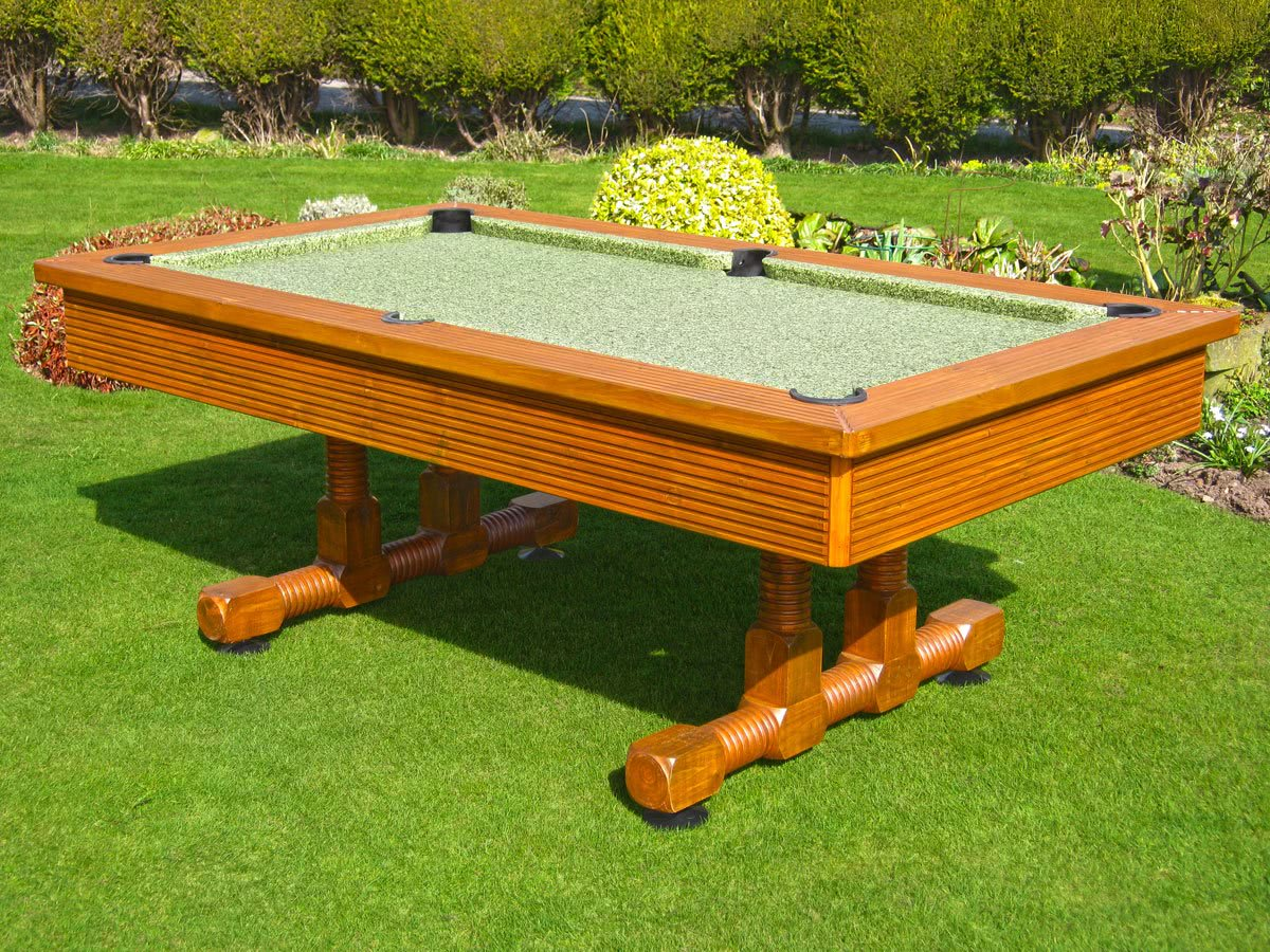 The Evergreen Classic outdoor pool table.