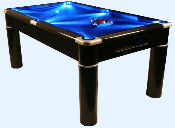The Aurora LED pool table