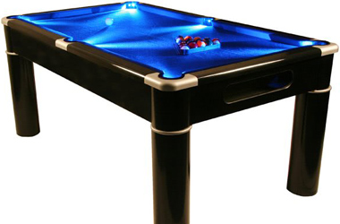 The Aurora LED pool table.