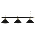 Brass Lamp Set with 3 Black Shades (3274.001)