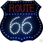 Route 66 LED Wall Sign
