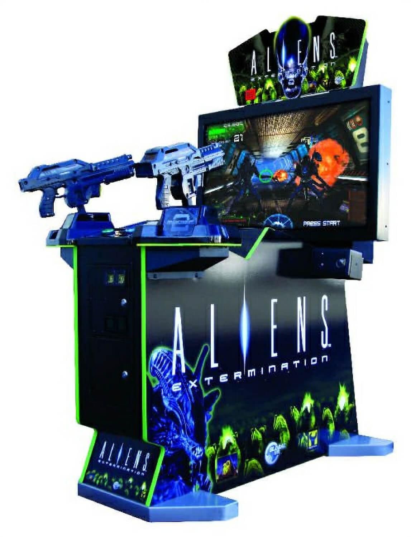 aliens arcade machine