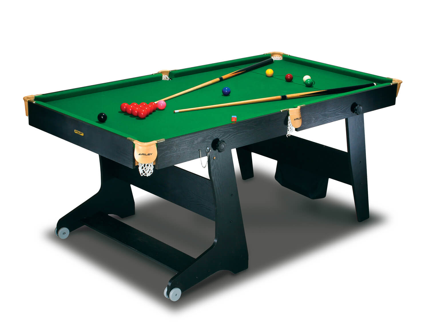 Bce 6 foot folding home snooker table fs 6 liberty games for Table 6 games