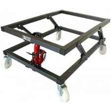 Hydraulic Pedal Lift Pool Trolley (P7501)