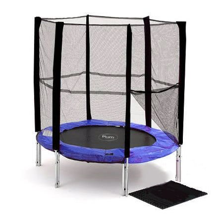 6 foot Blue Trampoline & Enclosure (30108)