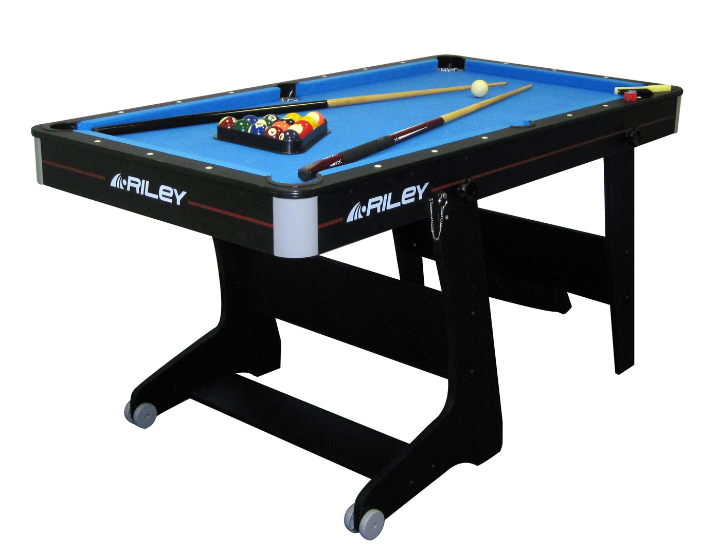 Riley 5ft folding pool table fp 5b liberty games for Table retractable