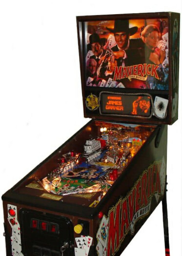 Maverick The Movie Pinball Machine