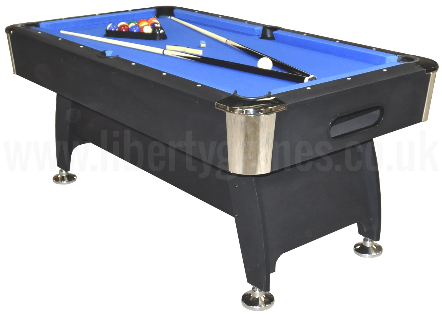 Strikeworth pro american deluxe 6ft pool table liberty games for Table 6 feet