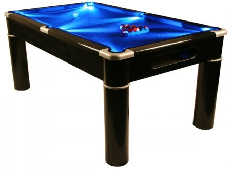 Strikeworth Aurora British 6 foot Pool Table with LED Lighting