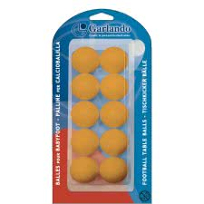 Garlando 10 x Standard Football Table Balls (33.1mm)