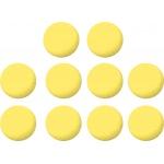 Garlando Set of 10 Yellow Table Football Balls (33.1mm)