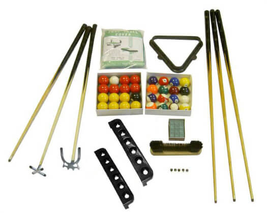 Gold Pool Table Accessory Pack