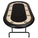 Premium Tournament Poker Table - Black (FLTABLE-B/W)