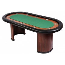 Classic 10 Person Poker Table with Arc Legs - Green (SB10-GREEN)