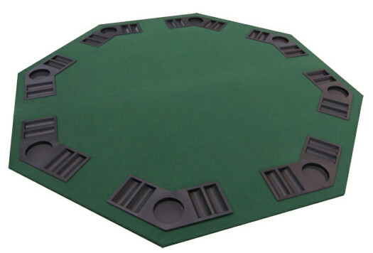 Octagonal Folding Poker Table Top with Carry Bag (T-800GR)