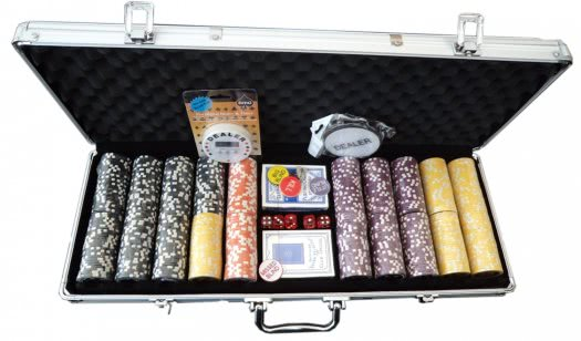 World Poker Club 500 Piece Numbered Poker Chip Set - 11.5g