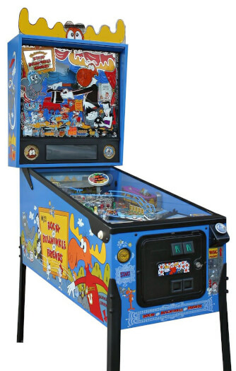 The Adventures Of Rocky & Bullwinkle Pinball Machine