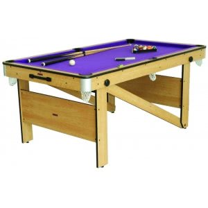 6 foot Folding Lay Flat Pool Table (CP-6AG)