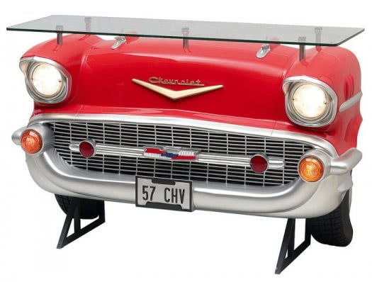 Chevrolet Car Bar with Glass Top