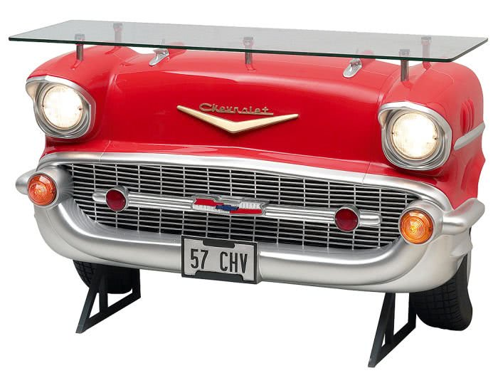 Chevrolet Car Bar With Glass Top Liberty Games