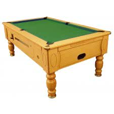 Optima Coin Operated Slate Bed Pool Table