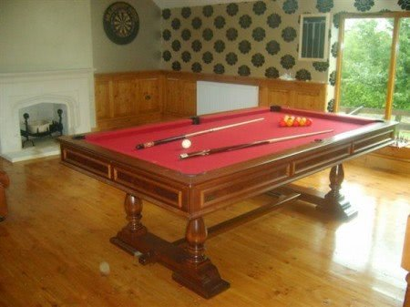 Longoni Balmoral 8 foot American Slate Bed Pool Table