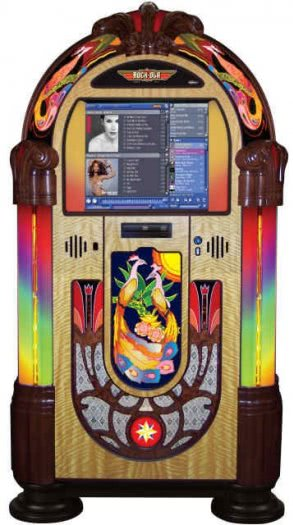 Rock-Ola Peacock Music Center Digital Jukebox