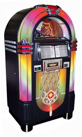 Rock-Ola Bubbler Black CD Jukebox