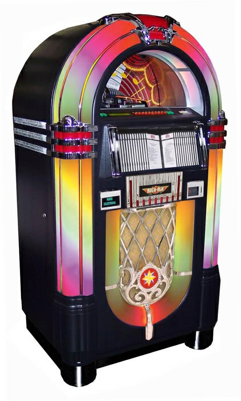 Rock Ola Bubbler Jukebox Black Cd Liberty Games