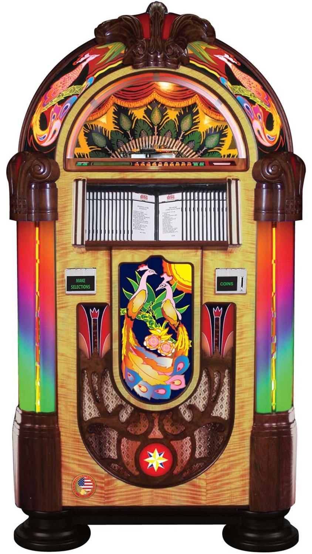 Rock Ola Peacock Cd Jukebox Liberty Games