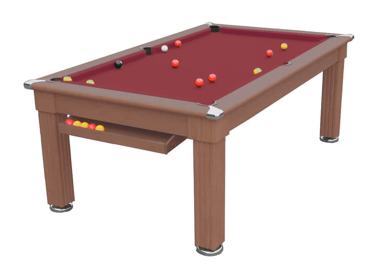 Traditional diner pool dining table 6 ft 7 ft liberty for Table 6 games