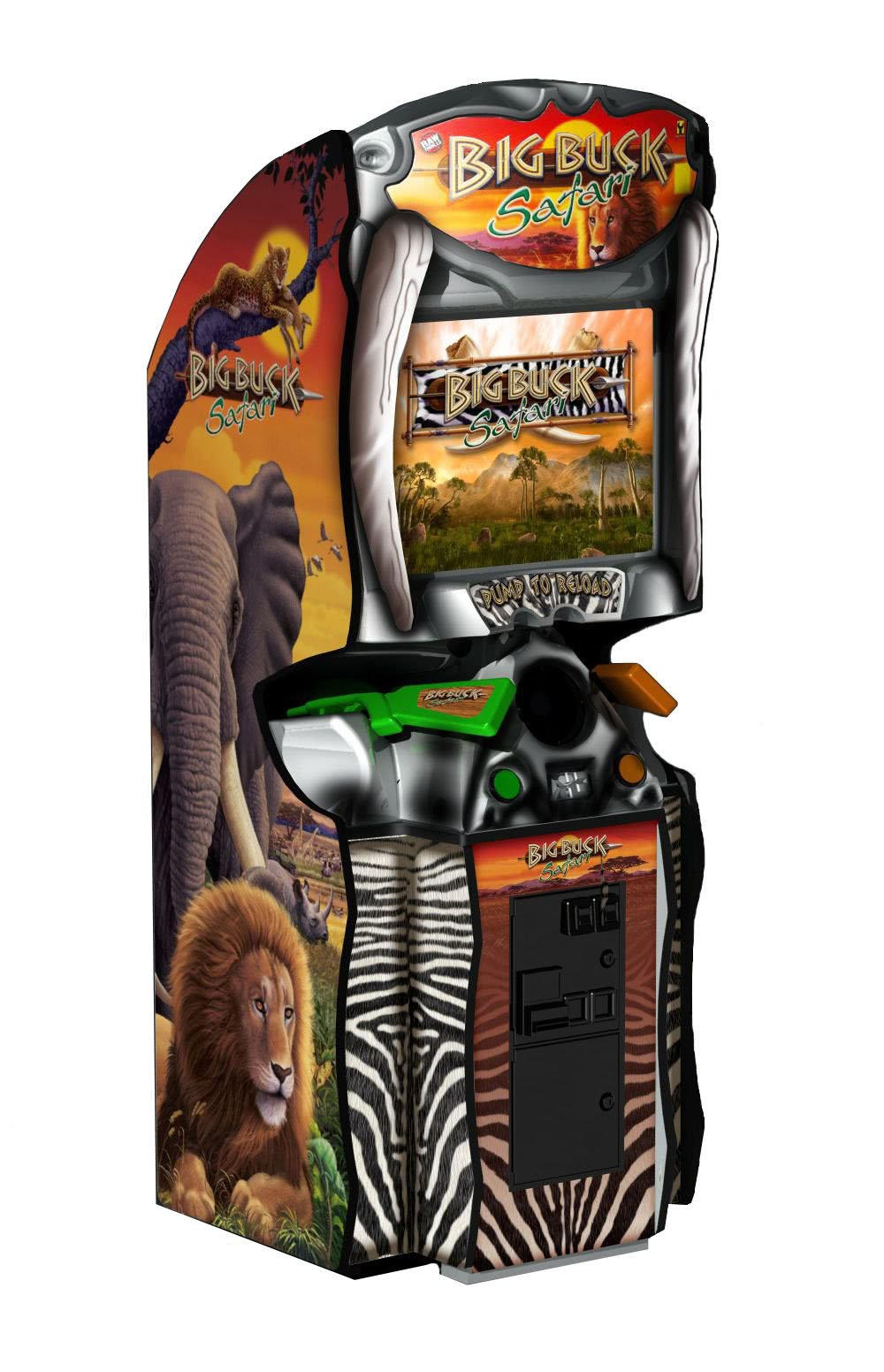 Raw Thrills Big Buck Hunter Safari Arcade Machine