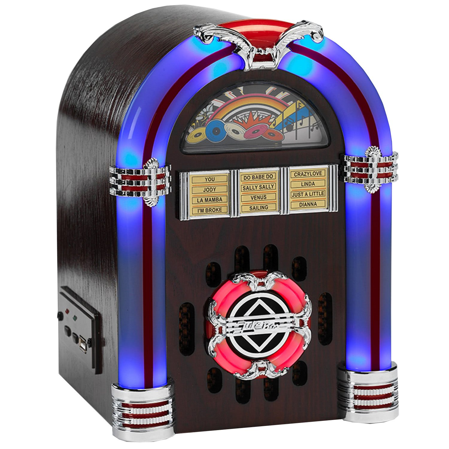Steepletone Usb Sub Led Compact Mp3 Mini Jukebox Liberty